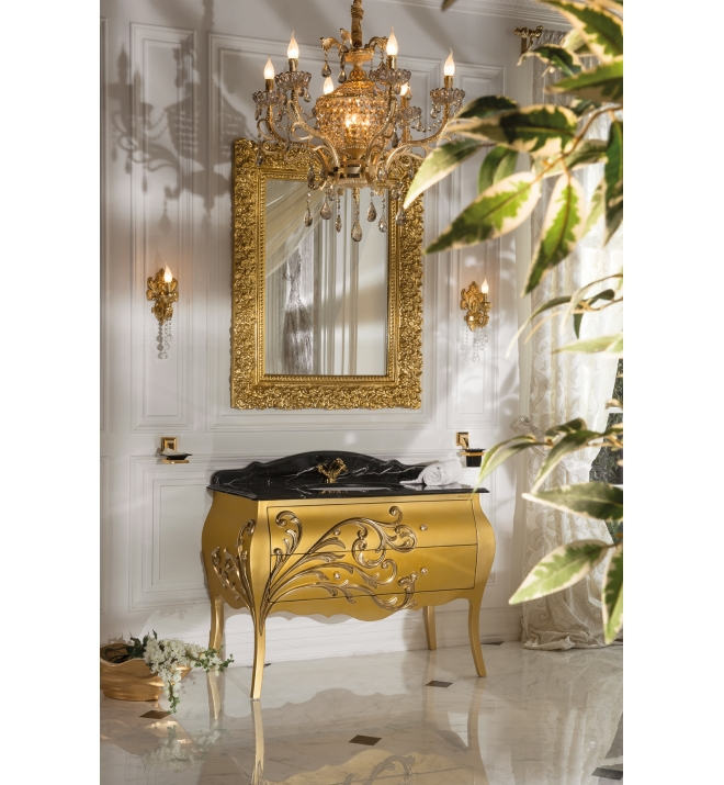 Topex Andante 46 Luxury Bathroom Vanity Matte Gold Glossy Gold